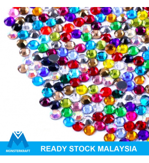 Mixed Colors Hotfix STANDARD Rhinestones Manik Tampal Batu Diamond