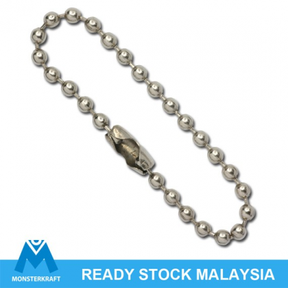 Ball Chain with Connector, Stainless Steel, 30 pcs/pack