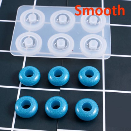Silicone Mold, European-Style Large Hole Beads