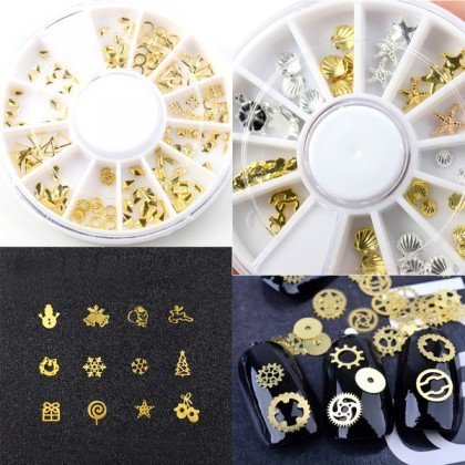 Metal Studs for Nail Art, Resin Filler, Theme Mix (710-506P)