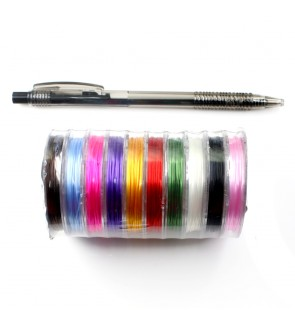 10 mini spools Mini Crystal String Transparent (Elastic/Stretchable), 0.5mm