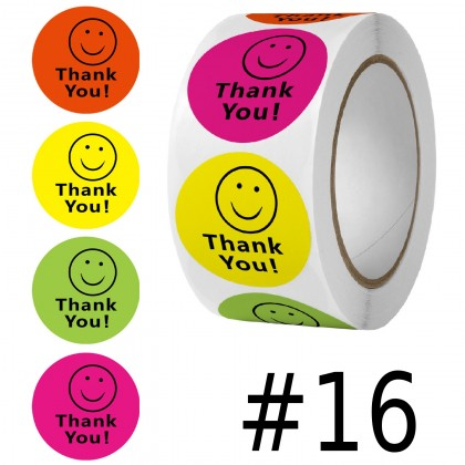 Thank You Sticker #1 to #50