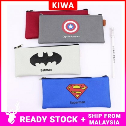 Super Heroes Slim Canvas Pencil Case