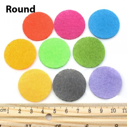 100 pcs Pre-Cut Felt, Simple Shapes Theme, Heart Round Star