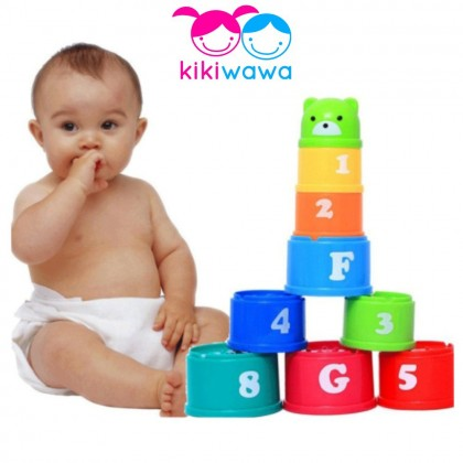 9 Pcs Baby Toys Stacking Cups