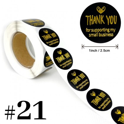 Thank You Sticker #21 to #70