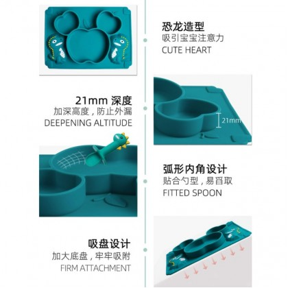Silicone Suction Plate Dinosaur