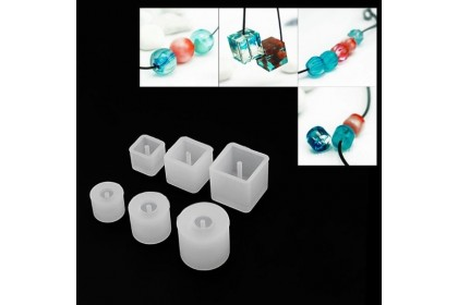 3 pcs Silicone Mold, Beads Mold, Resin Mold (710-193P)
