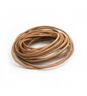 Natural Genuine Leather (Cowhide) Cord, Natural (804-716P)
