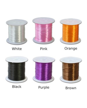 Stretchable Elastic String Cord for Gemstones Beads, Floss Elastic