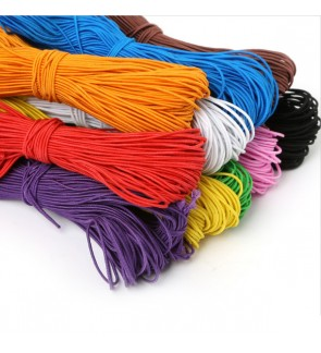 Stretchable Elastic Cord, 1mm, 20 meters/bundle (Nylon Thread wrapping the core)