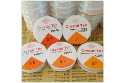 Clear Elastic Stretchable Bead Stringing Cord, for Jewelry Stringing