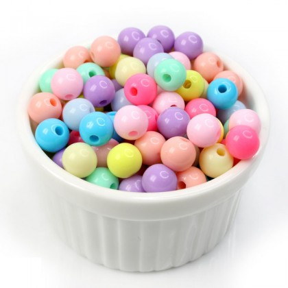 Sweet Candy Round Acrylic Beads for Kids Making Jewelry, 40 grams/pack