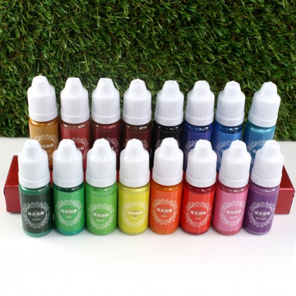 Pearl Pigment Liquid, Metallic Effect, Pigment Colorant for Resin, Slime, Clay