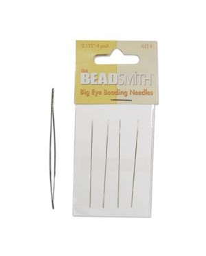Big Eye (Large Eye) Beading Needles 4 pcs/pack