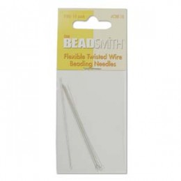 10 pcs BEADSMITH Flexible Twisted Wire Beading Needles