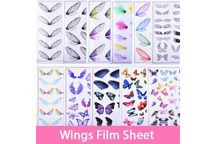 1 pcs Butterfly, Feather Wings Clear Film Sheet for UV Resin, Resin Filler