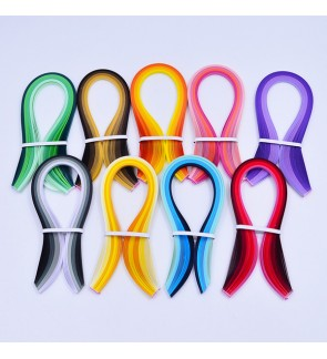 Paper Quilling Strips, 3mm/5mm Wide, 54cm Long, 100 pcs/pack