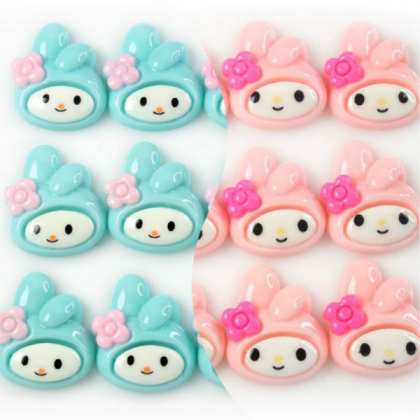 10 pcs Princess Resin Flat