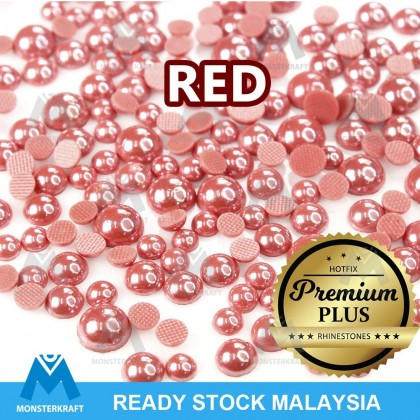 Hotfix PREMIUM PLUS, Half Pearl, RED