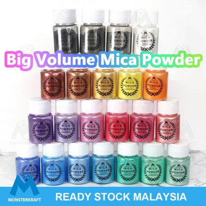 Mica Powder, Powdered Pigment for Epoxy Resin/UV Resin/Clay/Slime/Soap