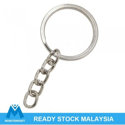 Key Chain, Ring With Short Chain, Ring 25mm