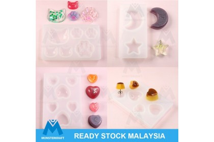 Small Silicone Mold, UV Resin Epoxy Resin Mould, Cat Star Moon Love Heart