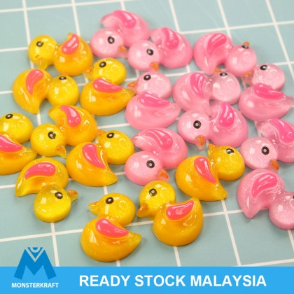 10pcs Duck Resin, Resin Flat, Kawaii Cabochon