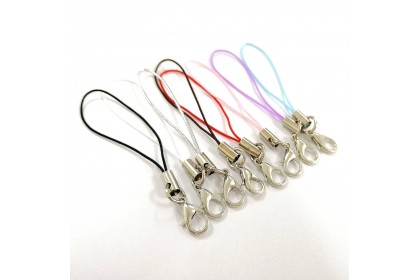20pcs Cell Phone Lanyard, 4.5cm, Jump Ring with Lobster