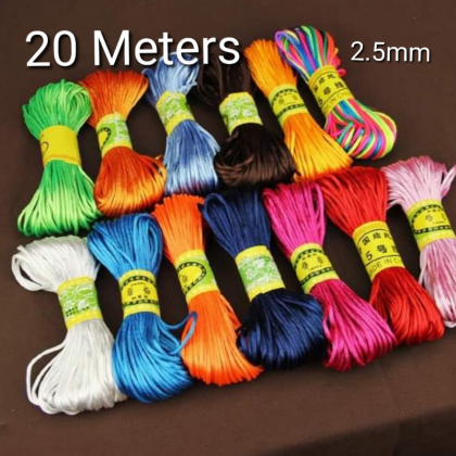20 Meters Chinese Knotting Nylon Cord  2.5mm