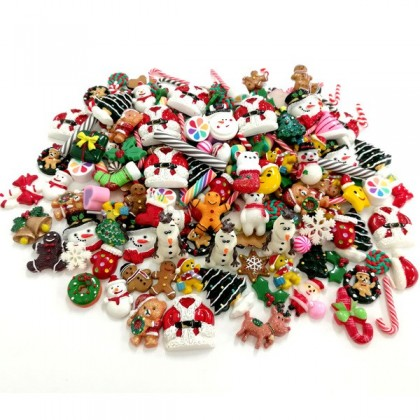 Mixed Cabochons/Decoden, Christmas Theme, 20 pcs/pack