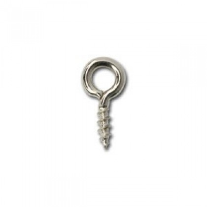 100 pcs Screw Eyes, Silver-Plated Iron (500-501P)