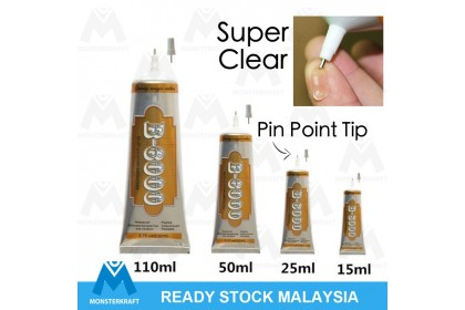 Adhesive Glue with Pin Point Tip, B6000 / B-6000, Clear