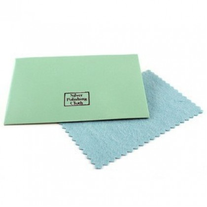 1 pcs Sterling Silver Polishing Cloth, Flannelette Fabric, 10x7cm