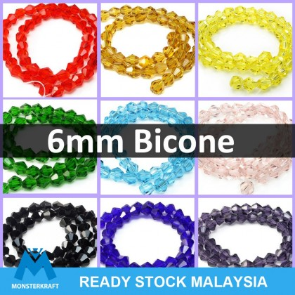 Chinese Crystals Bicone Mix Colors 50 grams/pack