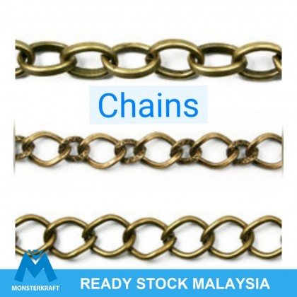 Chains, Bracelet Chain, Antique Brass-Plated (861-031P)