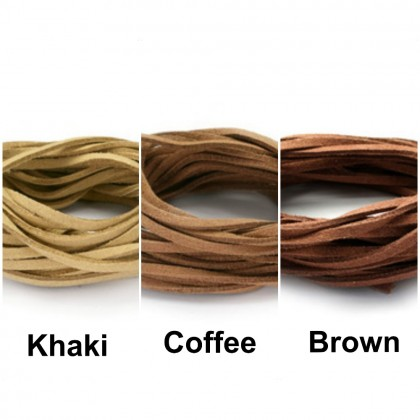 5pcs x 1meter Suede Cord Stringing Materials (Faux Suede Lace)