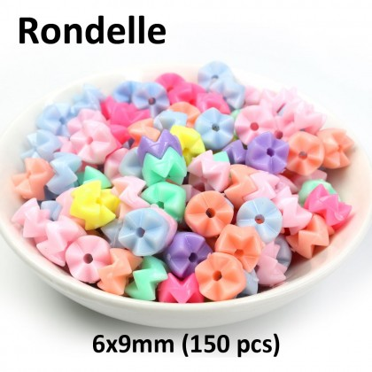 40 grams Acrylic Beads, Assorted Colors, Kids DIY, Pastel Colour Beads