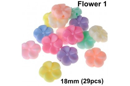 Acrylic Beads, Assorted Colors, Kids DIY, Pastel Colour Beads