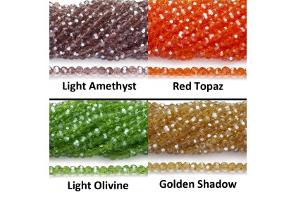Chinese Crystal Glass Beads, Round Faceted, 4mm, approx. 100 pcs/pack (307-151P)