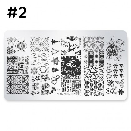 Christmas Nail Art Stamp Stamping Plates Manicure Pedicure, Template Tool