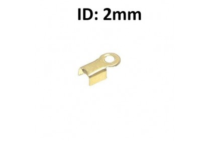 100 pcs Cord Crimp End, Gold/Silver-Plated Iron (518-133P)