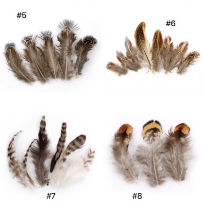 Feathers For Dreamcatcher, Natural Bulu Ayam DIY (703-050LP)