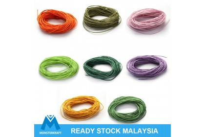 10 meters Woven Cotton Cord (Lightly Waxed), 1mm Thick (804-156P)