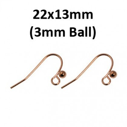 10 pairs Earwire, Fishhook, Copper Gold-Plated Brass