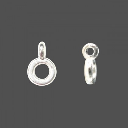 40 pcs Metal Beads with Loop, 6.5x10mm (Hole: 3mm), 2 colors to chose (389-601P)