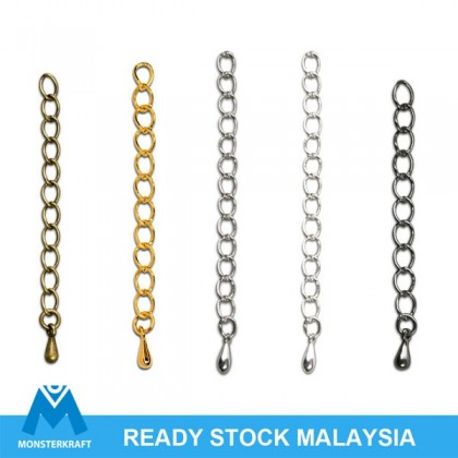 Extender Chain, 5cm Long with Tear Drop (520-001P)