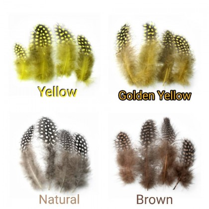 Feathers, Rooster Dotted, 50 pcs/pack