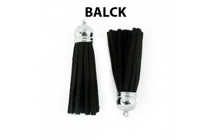 Suede Tassels, Variety Colors, with Brass Cap, 12x56mm (525-001P)