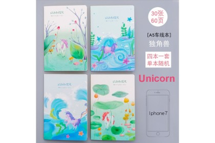 4pcs A5 Notebook, Diary Journal, A5 Planner, Series 4 (set of 4)